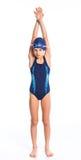 Jong zwemmersmeisje Stock Foto