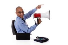 Jonge aantrekkelijke Afrikaanse Amerikaanse zakenman Royalty-vrije Stock Fotografie