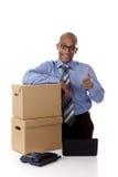 Jonge aantrekkelijke Afrikaanse Amerikaanse zakenman Stock Foto's
