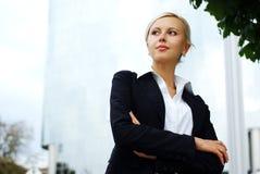 Jonge Aantrekkelijke BedrijfsVrouw Royalty-vrije Stock Foto's