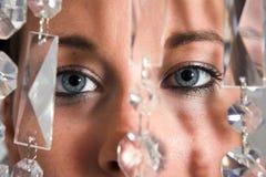 Jonge aantrekkelijke de ogenclose-up van de Vrouw Stock Fotografie