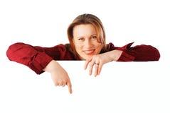 Jonge aantrekkelijke glimlachende bedrijfsvrouw Stock Foto