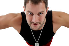 Jonge aantrekkelijke Kaukasische mensenatleet stock fotografie