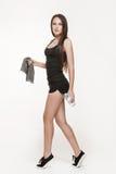 Jonge aantrekkelijke vrouw bij de gymnastiek Stock Foto's