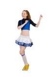 Jonge aardige cheerleader Stock Foto's