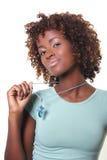 Jonge Afrikaan met halsband royalty-vrije stock foto