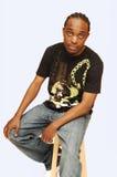 Jonge Afrikaanse Amerikaanse mens. Royalty-vrije Stock Foto's