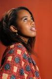 Jonge Afrikaanse schoonheid royalty-vrije stock afbeeldingen