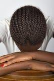Jonge Afrikaanse vrouw Stock Afbeelding