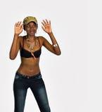Jonge Afrikaanse vrouw Royalty-vrije Stock Afbeeldingen