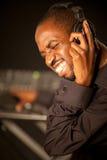 Jonge afro Amerikaans DJ Stock Fotografie