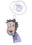 Jonge Alcoholische Mens Vector illustratie vector illustratie