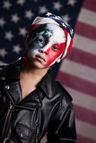 Jonge Amerikaanse Patriot Stock Fotografie