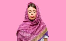 Jonge Arabische vrouw stock foto