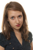 Jonge arrogante vrouw Stock Fotografie