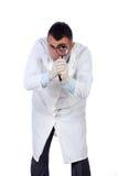 Jonge arts met vergrootglas Stock Afbeeldingen