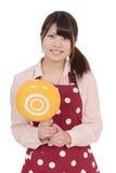 Jonge Aziatische huisvrouw Stock Foto