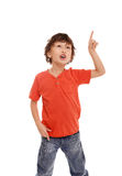 Jonge Aziatische jongen Stock Foto