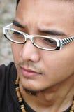 Jonge Aziatische Mannelijke Dichte Omhooggaand Royalty-vrije Stock Afbeeldingen