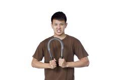 Jonge Aziatische Mannelijke Training Royalty-vrije Stock Fotografie