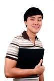 Jonge Aziatische student. Stock Foto