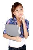 Jonge Aziatische universitaire student. Stock Fotografie