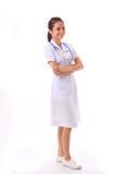Jonge Aziatische verpleegster stock afbeeldingen