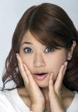 Jonge Aziatische Vrouw Stock Afbeelding