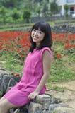 Jonge Aziatische vrouw, in openlucht Stock Foto's