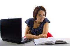 Online het bestuderen Stock Foto