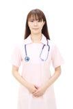 Jonge Aziatische vrouwelijke verpleegster Royalty-vrije Stock Foto's