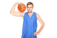 Jonge basketbalspeler Stock Fotografie