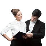 Jonge bedrijfsmensen die bespreking hebben Stock Foto