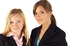 Jonge bedrijfsvrouwen op wit Royalty-vrije Stock Foto