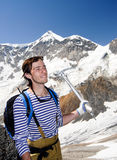 Jonge bergbeklimmer Royalty-vrije Stock Foto's