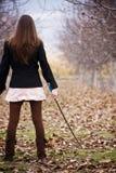 Jonge bewapende vrouw Royalty-vrije Stock Foto's