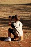 Jonge Birdwatcher Royalty-vrije Stock Foto