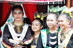 Jonge Bisaya-meisjes Stock Afbeeldingen