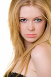 Jonge blonde haarvrouw Royalty-vrije Stock Foto's