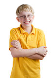 Jonge blonde jongen Royalty-vrije Stock Foto's