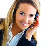 Jonge blonde medewerker stock fotografie