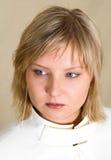 Jonge blonde vrouw Stock Afbeelding