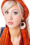 Jonge Blonde Vrouw royalty-vrije stock foto's