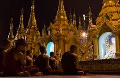 Jonge Boeddhistisch in Myanmar Royalty-vrije Stock Foto's