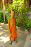 Jonge Boeddhistische monnik Royalty-vrije Stock Fotografie
