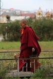 Jonge boeddhistische monnik in ulan bator in Mongolië Stock Afbeelding