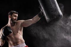 Jonge bokser opleiding Stock Fotografie