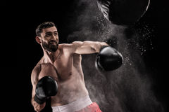 Jonge bokser opleiding Royalty-vrije Stock Afbeelding