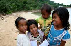 Jonge Brievenbestellers Cambodiam Royalty-vrije Stock Foto