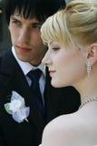 Jonge bruid en bruidegom Stock Fotografie